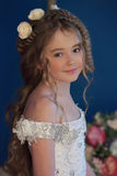 Young princess with long hair and flowers in her hair Royalty Free Stock Photo