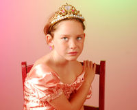 Young princess looking serious Royalty Free Stock Photo