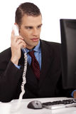 Young profesional business men sitting Stock Images