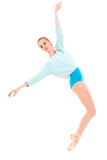 Young professional ballerina on tiptoe Stock Photography