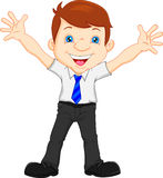 Young professional businessman waving Royalty Free Stock Photo