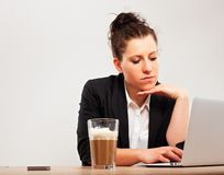 Young Professional Busy with Office Work Royalty Free Stock Photos