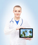 Young, professional and cheerful female doctor Stock Image