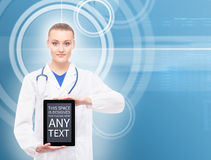 Young, professional and cheerful female doctor Royalty Free Stock Images
