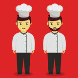 Young Professional Chef. Chef Vector illustration in flat style Royalty Free Stock Image
