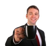 Young Professional with Coffee Cup Stock Photography