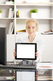 Young professional with digital tablet Stock Image