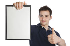 Young professional with empty Stock Image