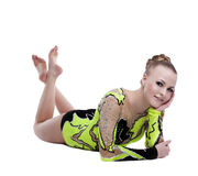 Young professional gymnast relax portrait isolated Stock Photos