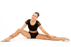 Young professional gymnast woman Stock Photography