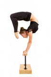 Young professional gymnast woman Royalty Free Stock Photo