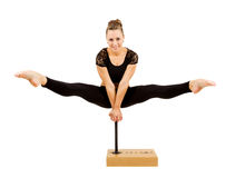 Young professional gymnast woman Stock Photo