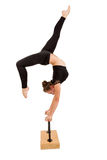 Young professional gymnast woman Stock Image