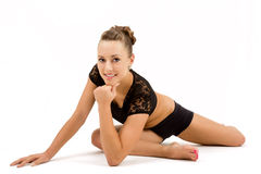 Young professional gymnast woman Royalty Free Stock Images