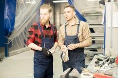 Car Mechanics At Work royalty free stock photography
