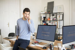 Young professional man in the office Stock Photo