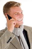 Young professional man receiving a call Royalty Free Stock Image
