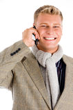 Young professional man receiving a call Stock Photo
