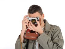 Young professional photographer  Royalty Free Stock Photos
