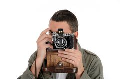 Young professional photographer Stock Image