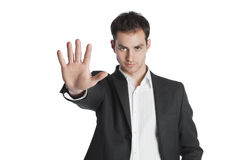 Young professional stop gesture Royalty Free Stock Photography