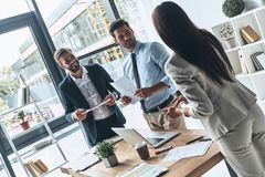 Young professional team. stock images