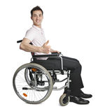 Young professional in wheelchair Stock Image