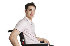 Young professional in wheelchair Royalty Free Stock Photos
