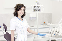 Young professional woman dentist in the dental office Stock Photo