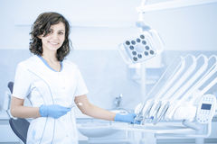 Young professional woman dentist in the dental office Royalty Free Stock Photography