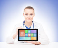 Young and professional woman doctor Royalty Free Stock Photography
