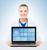 Young and professional woman doctor Stock Photography