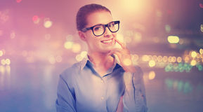 Young professional woman in glasses Stock Images