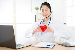 Young professional woman right cardiologist Stock Image