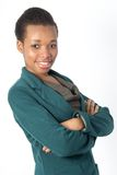 Young Professional Woman wearing a Jacket Stock Photo