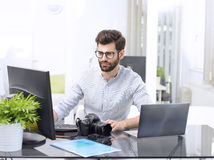 Young professional working royalty free stock photo