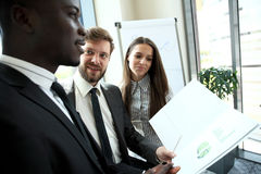 Young professionals work in modern office.Business crew working with startup. Royalty Free Stock Photo