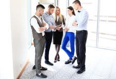 Young professionals. Work in modern office.Business crew working with startup royalty free stock images