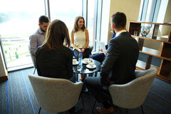 Young professionals work in modern office.Business crew working with startup. Stock Images