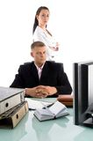Young professionals at work place Stock Photos