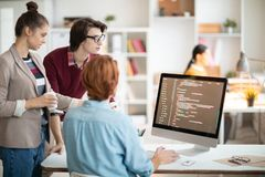 Young programmers stock images