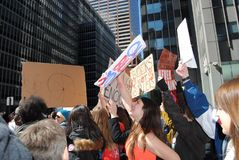 Young Protesters, March for Our Lives, End Gun Violence, NYC, NY, USA royalty free stock images