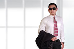 Young and Proud Asian Businessman Stock Image