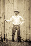 Young Proud Farmer standing up Royalty Free Stock Image