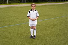 Young proud soccer player Royalty Free Stock Photo