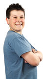 Young proud teen boy stock photography