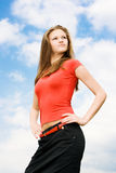 Young proud woman Royalty Free Stock Images