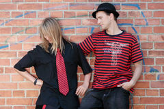 Young punk couple Royalty Free Stock Photo