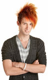 Young Punk Rocker with Folded Arms Royalty Free Stock Photography