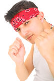 Young Punk Showing Fist Stock Photo